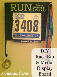 DIY Race Bib & Medal Display