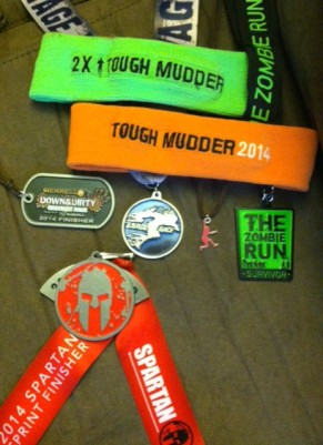 obstacle, mud, and zombies